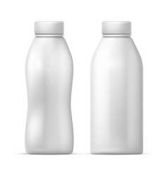 white blank plastic bottle packaging vector image