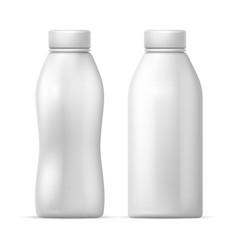 White blank plastic bottle packaging vector