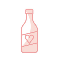 Wine bottle isolated icon vector
