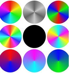 Gradient rainbow circle color palette set vector image vector image