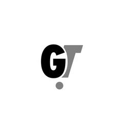 gt g t black white grey alphabet letter logo icon vector image vector image