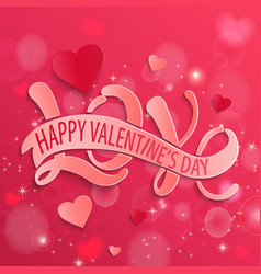 happy valentines day design card vector image vector image