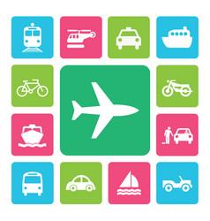 icon set traffic vector image