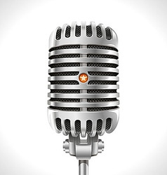 Old Microphone vector image vector image