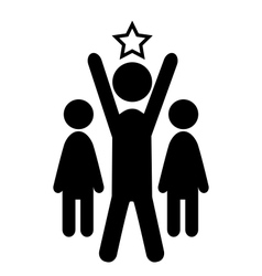 Outstanding Man Win Leader People Flat Icons vector image