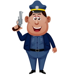 Policeman cartoon vector image