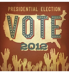 presidential election 2012 retro poster vector image vector image