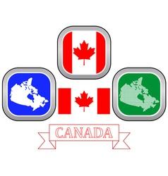 symbol of CANADA vector image vector image