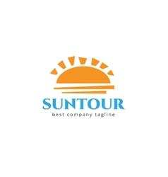 Abstract travel sun logo icon concept Logotype vector image vector image