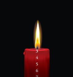 Advent candle red 3 vector image vector image