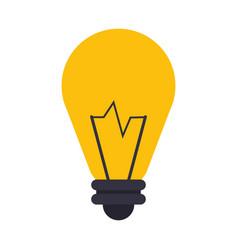 bulb light icon vector image vector image