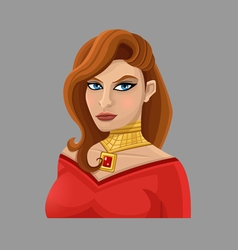 Cartoon woman 1 vector image