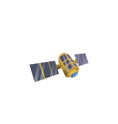 Image space satellite vector image vector image