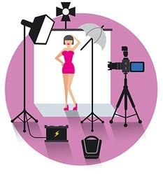 photo studio concept icon vector image vector image