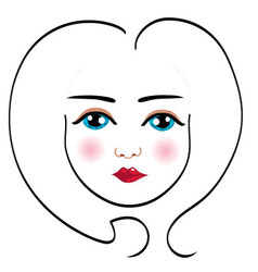 woman face drawing 5 vector image