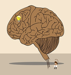 Brain labyrinth to secret idea vector image vector image