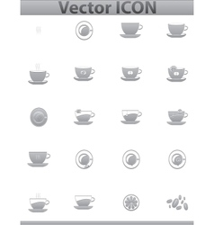 brown coffee icons set Cup and cafe icon vector image vector image
