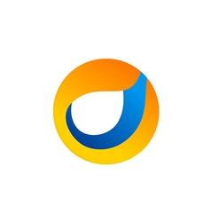 circle round abstract technology logo vector image vector image