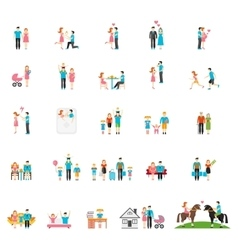 Couple and family flat figures vector image vector image
