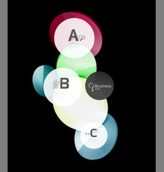 geometrical abstract infographics banner template vector image