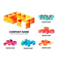 Glossy digital corporate logo vector
