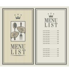 king menu vector image vector image