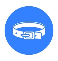 Pet collar icon of for web and vector image vector image