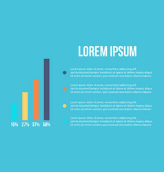 Business infographic data and graph vector
