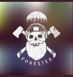 forester lumberjack print vector image vector image