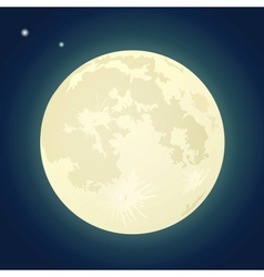 Full Moon on a Dark Blue Sky vector image