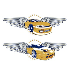 race car emblem vector image