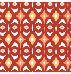 Red and gold ikat geometric seamless pattern vector image vector image
