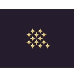 Stars letter q logotype luxury abc icon vector