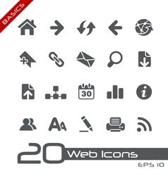 Web Navigation Basics Series vector image vector image