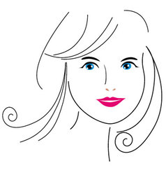 woman face drawing 6 vector image