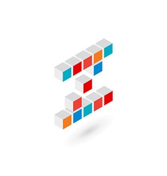 3d cube letter Z logo icon design template vector image