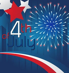 4th july background template design vector image