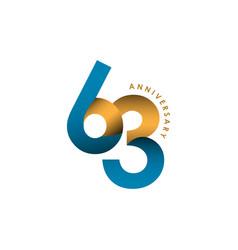 63 year anniversary template design vector