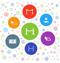 7 carpet icons vector image