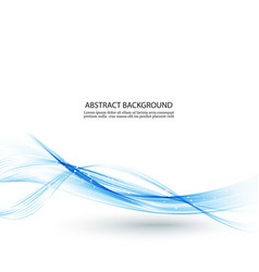 abstract color wave design element blue wave vector image