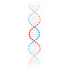 Abstract dna structure isolated on white vector