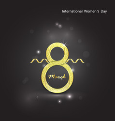 abstract golden greeting cardgolden number eight vector image