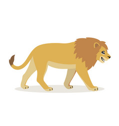 African animal cute funny lion icon isolated vector