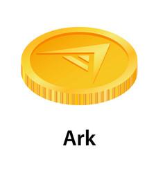 Ark icon isometric style vector