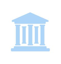 bank building icon building icon icon vector image
