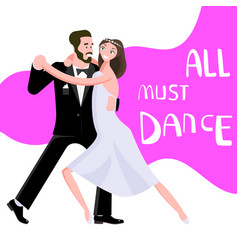 banner happy young people dancing vector image