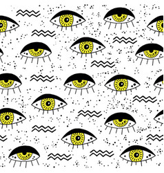 Black and yellow eye vector