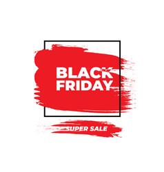 black friday sale banner red grunge effect vector image