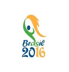 Brasil 2016 Flames Summer Games vector