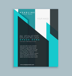 business brochure template presentation vector image